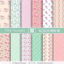 Kit Imprimible Pack Fondos Shabby Chic 72 Clipart