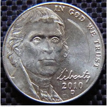 Moneda Usa 5 Centavos De Dolar Jefferson 2010