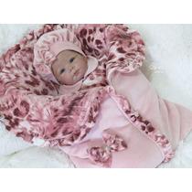 Saída Maternidade Menina Oncinha Amore Enxoval De Bebê