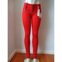 Calça Jeans Ri19 Skinny #vermelha - #lançamento
