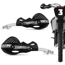 Protetor Mao Pro Tork Hps Aluminio Trilha Motocross Preto