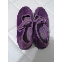 Zapatillas/zapatos Violetas De Pana