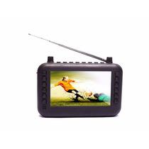 Mini Tv Digital Isdb-t Portatil, Fm, Usb, Sd Card Multimedia