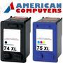 Pack X2 Hp 74+75xl C4210 C4380 C5580 C5280 C4480 Alternativo