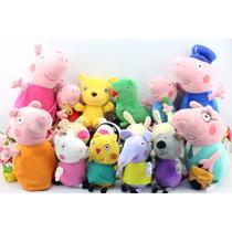 Família Peppa Pig E Amigos Completo 16 Pelúcias Env Imediato