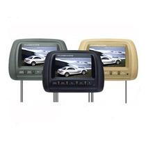 2 Encosto Cabeça Tela Monitor Lcd 7 P Dvd + Usb Sd Controle