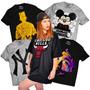 Camisetas Femininas Estilo Vestidinho Swag Hip Hop