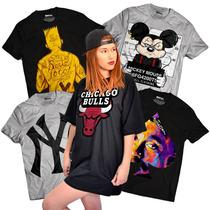 Camiseta Feminina Estilo Vestido Anitta Ludmilla Rihanna