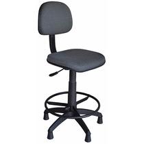 Cadeira Caixa Secretaria Estofada Ergonomica Regulagem Altur