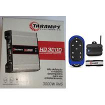 Potencia Automotiva Taramps Hd3000 Compact 2 Ohm + Tlc 3000