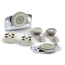 Roldana Sistema Ro 61 Com Mola Para Portas Alumino E Madeira