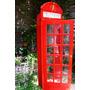 Cabina Telefónica Inglesa Para Amurar Sin Pintar, 2 Estantes