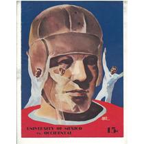1935 Pumas Unam Vs Occidental College Futbol Americano