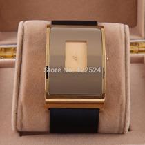 Relogio Feminino Quartzo Design Marca De Luxo Dourado/preto