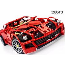 Bloco De Montar 1322 Peças Carro Racer Ferrari 599 Gtb Lego