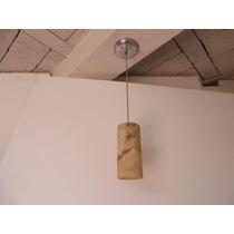 Lámpara Cilíndrica Colgante De 9x20 Cms En Onix Piña