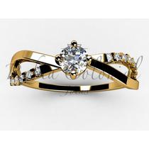 Anel Solitário De 24 Pontos. Ouro18k! Diamantes - Noivado