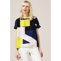 Remera Combinada Color Blocks Portsaid Oficial
