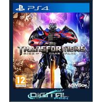 Transformers Rise Of The Dark Spark Ps4 + Dlc Código Psn