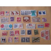 Lote De Timbres Postales De E. U. De Coleccion