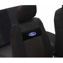 Capas Banco Tecido Original Preta Logo Da Ford Fiesta Ka