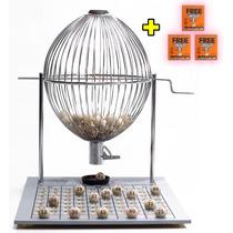 Bingo Nº 3 (grande) Cromado Completo 75 Bolas + 400 Cartelas