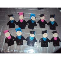 Lote De 10 Graduaditos Para Recuerdo De Graduacion Foami