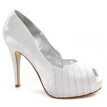 Sapato Noiva Laura Porto Peep Toe Mh9215   Zariff