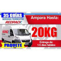 Paquete 35 Guías Redpack 20 Kg Prepago Envío Terrestre