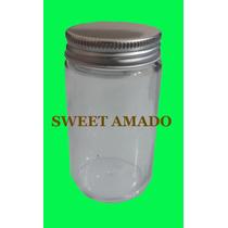 10 Pote Comprido Bolo Vidro Com Tampa Prata Dourada 115ml