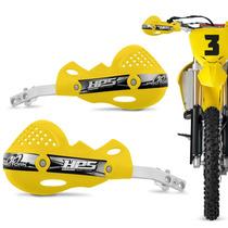 Protetor Mao Pro Tork Hps Aluminio Trilha Motocross Amarelo