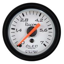 Pressão Do Combustivel Willtec Plus 52mm + Led Tuning