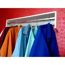 Cabideiro De Parede P/ Camisas 80x20x25-mdf-suporte Cromado