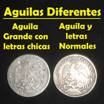 Moneda 1 Real Guanajuato Variedad Letras Chica Aguila Grande