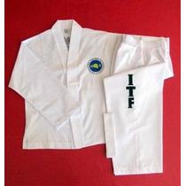 Traje Taekwondo Itf Algodon/polyester Talles 4-5 Y 6