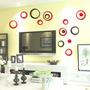 Círculos Decorativo Conjunto 10 Peças Acrílico Colorido