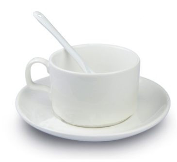 Taza de cafe para sublimaci n set de taza plato y cuchara for Cuchara de cafe