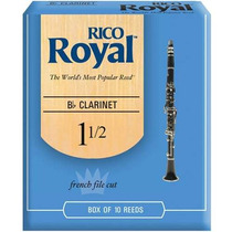 Palheta Clarinete Rico Royal Rcb1015 Nº 1 1/2 Cx C/ 10