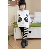 Conjunto Pantalon Y Sweater Panda, Niña Leggings Fiesta