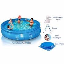 Piscina Splash Fun 110v 14.000 Litros Combo Frete Grátis