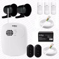 Alarme Intelbras Amt 2008rf Central + Kit Sensores E Cabos