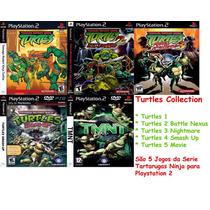 Tartarugas Ninjas Smash Up Play 2 (kit 5 Jogos Ps2 Turtles
