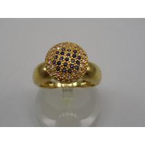 Anel De Formatura Ouro 18k Safiras E Diamantes Jr Joalheiro