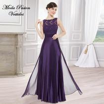 Glamoroso Vestido Plisado Largo Madrina Bodas Moda Pasion