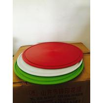 Tabla Plástica Para Pizza De 35cm Con Antideslizante X25 Uni