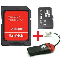 Cartao Memoria Micro Sd Sandisk 8gb + Leitor Micro