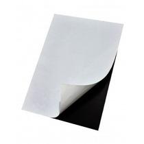 Kit 100 Folhas Manta Magnética Adesivada A4 Ima Lembrançinha