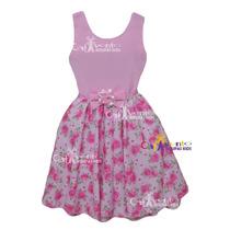 Vestido De Festa Infantil Floral Tam 4 /16 + Tiara De Brinde