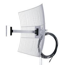Antena Parábola Grade 2.4 Ghz 25dbi Para Vivo Box Cabo 10mts