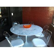 Conjunto Saarinen:mesa Red 1.30m B. Extra+5 Cadeira S/ Braço